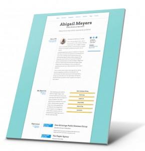 Currículum del estudiante, Ejemplo del sitio web de la cartera - Abigail Meyers