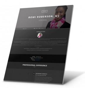 Currículum del estudiante, Ejemplo del sitio web de la cartera - Bomi Roberson