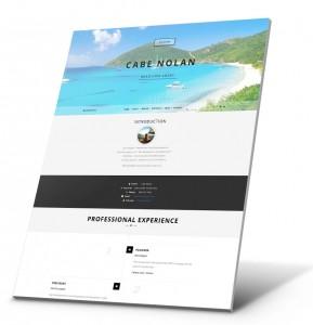 Currículum del estudiante, Ejemplo del sitio web de la cartera - Cabe Nolan