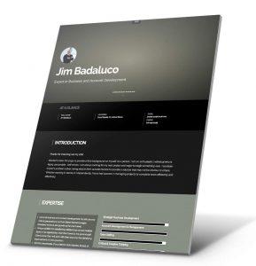 Currículum del estudiante, Ejemplo del sitio web de la cartera - Jim Badaluco