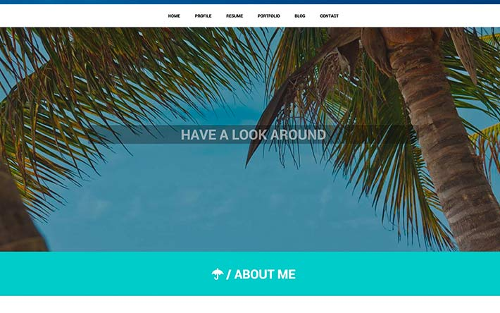 Student Ejemplo de sitio web de reanudación