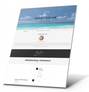 Currículum del estudiante, Ejemplo del sitio web de la cartera - Peggy Ann