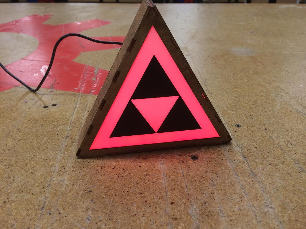 Interactive Triangle Triforce lightbox -
