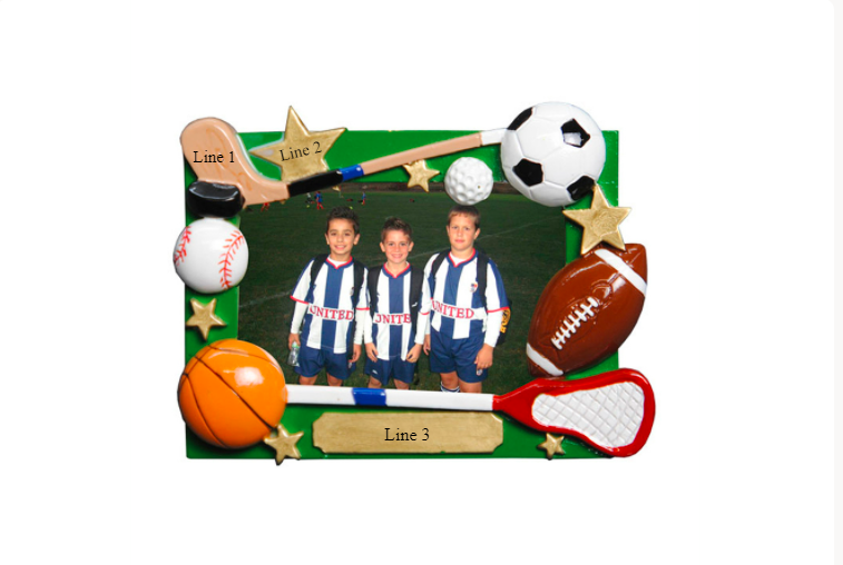 Personalized Sports Ornaments -