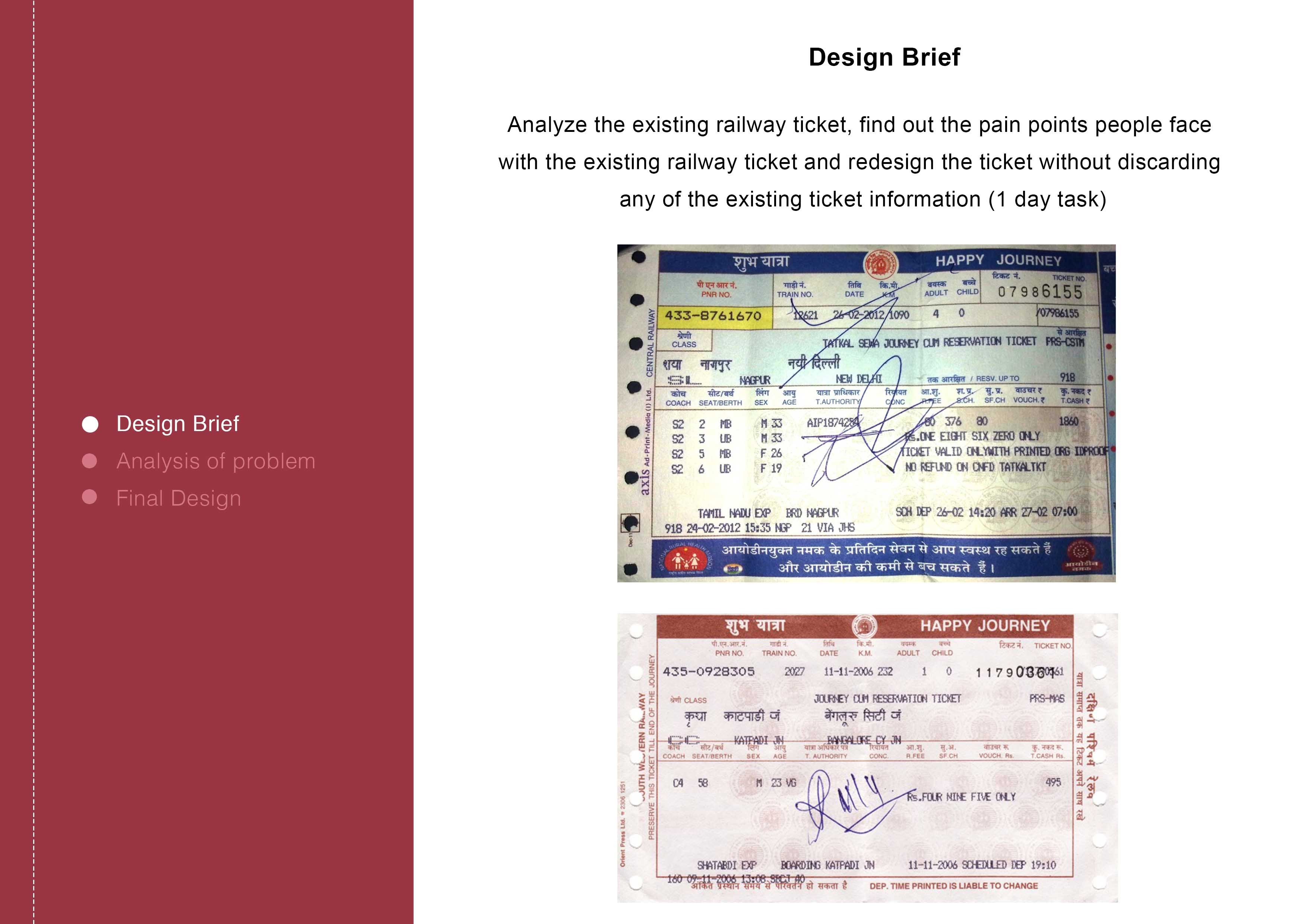 Redesign Indian Railway Ticket | Interaction Design
