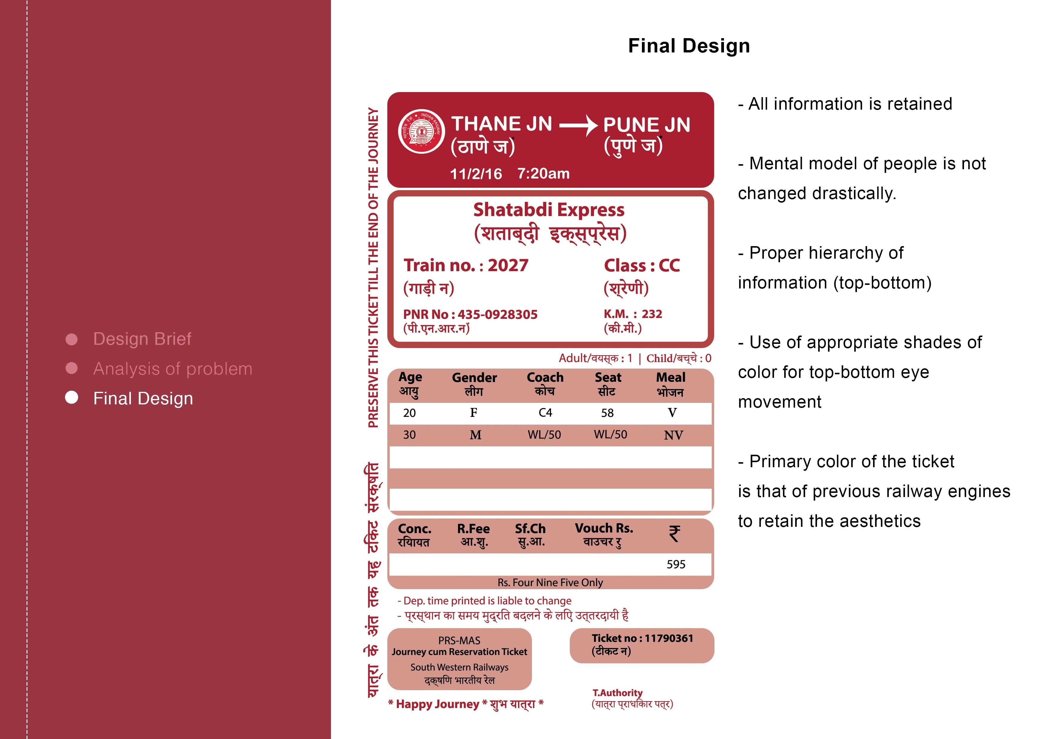 Redesign Indian Railway Ticket   Interaction Design