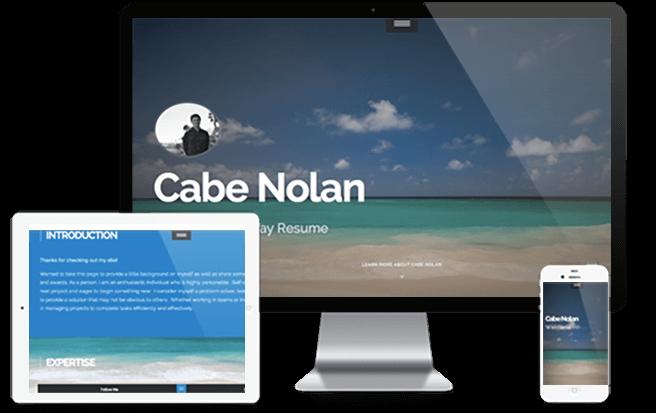 create a resume website  build a personal website  u0026 portfolio