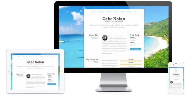 Website For Resume Default Theme