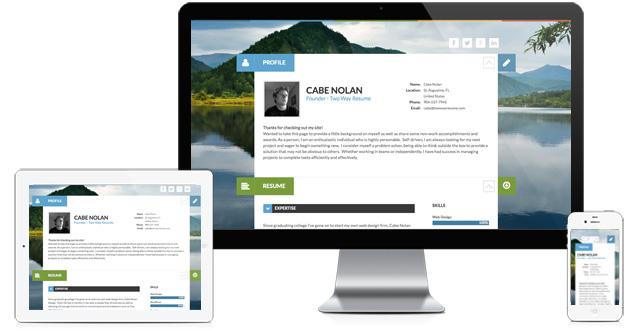 Resume Website Slider Theme