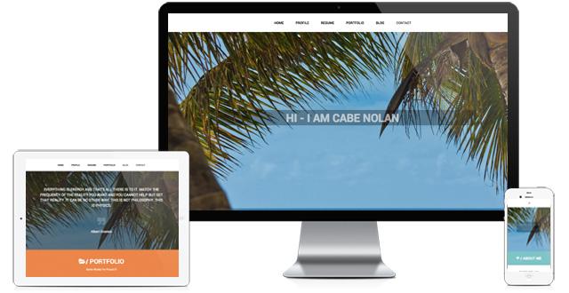 Resume Website Parallax Theme