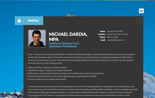 Resume Website & Online Portfolio, Create Personal Websites