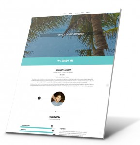Student Resume, Portfolio Website Example - Michael Huber