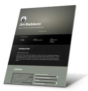 Student Resume, Portfolio Website Example - Jim Badaluco