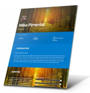 Student Resume, Portfolio Website Example - Mike Pimental